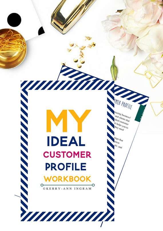 Find Your Ideal Customer Workbook  My Ideal Customer Profile Workbook il 570xN