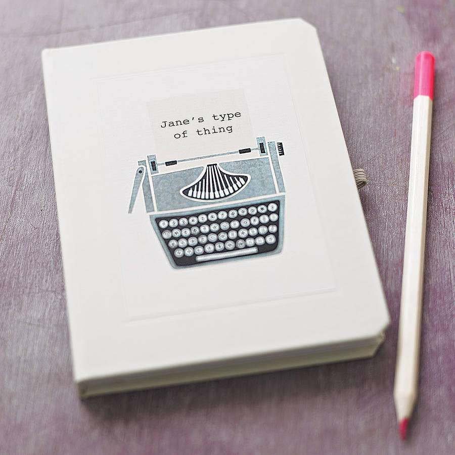 gifting guide LAST MINUTE HOLIDAY GIFT GUIDE FOR ENTREPRENEURS original personalised typewriter notebook c2a39 notonthehighstreet