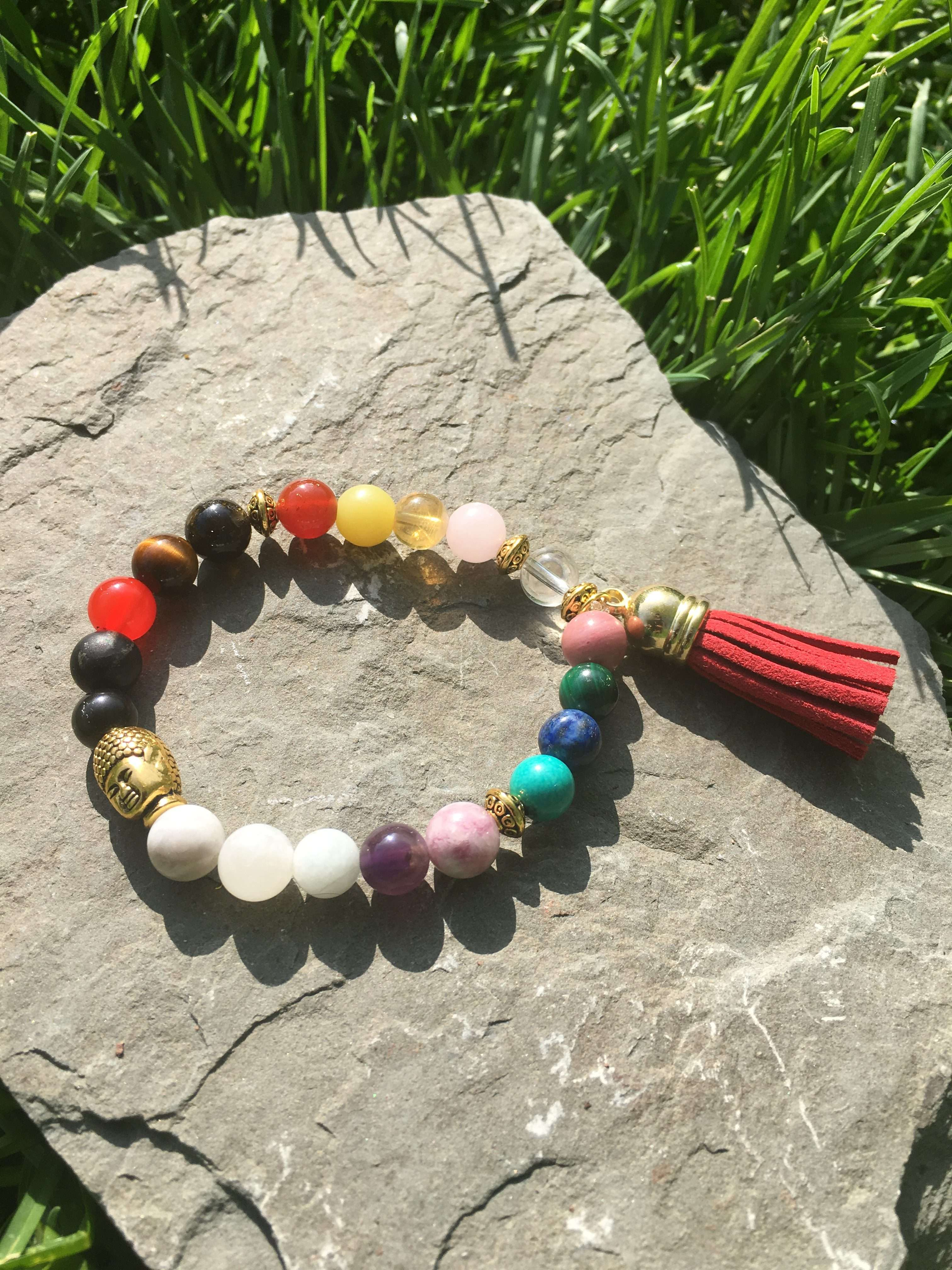 Chakra Bliss (Gold) Reiki Healing Bracelets, Reiki infused, Energy  Bracelet, Crystal Healing, Reiki Charged, women bracelet
