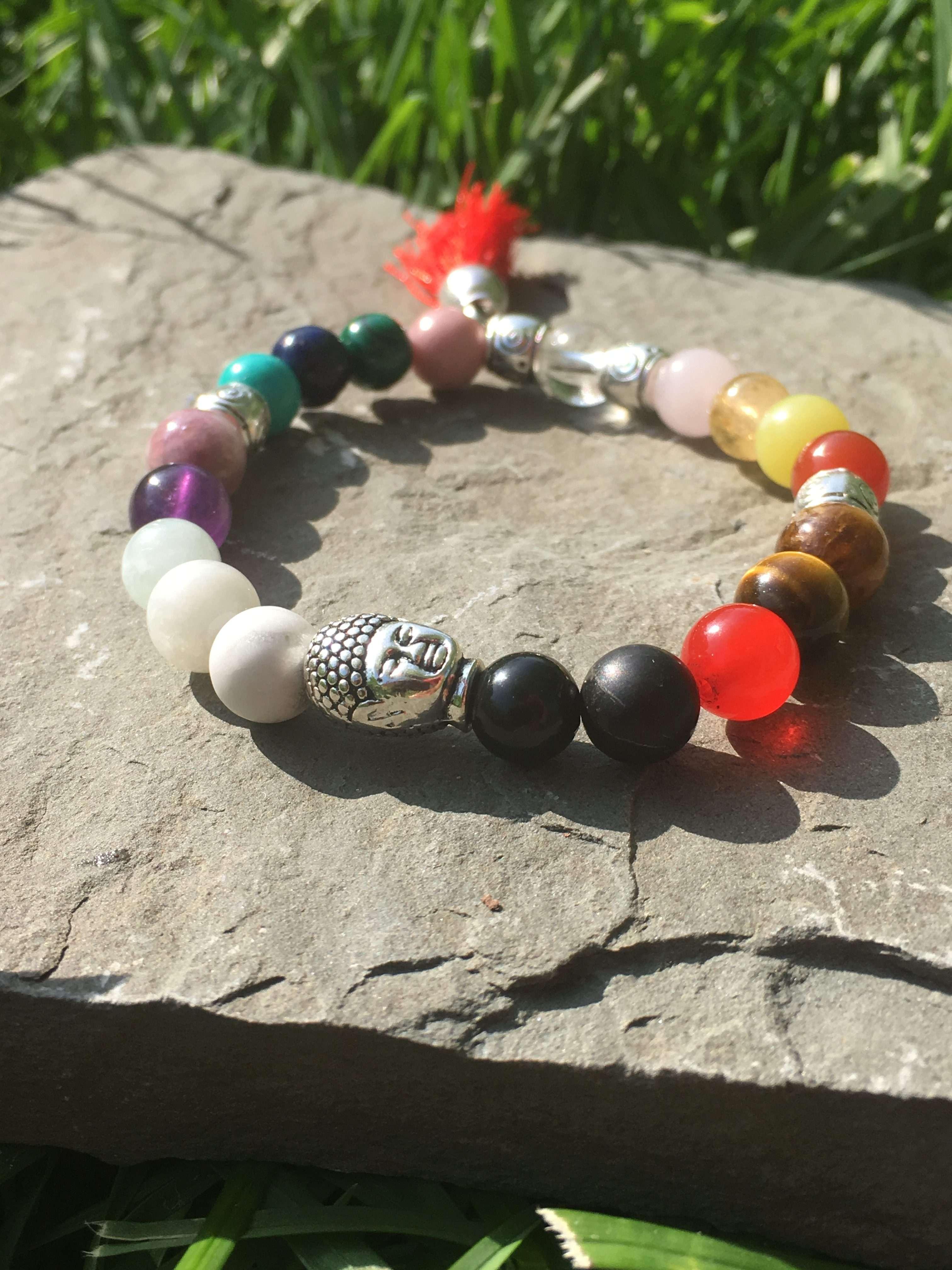 KK_S18 Chakra Bliss (Silver) Reiki Healing Bracelets, Reiki infused, Energy  Bracelet, Crystal Healing, Reiki Charged, women bracelet