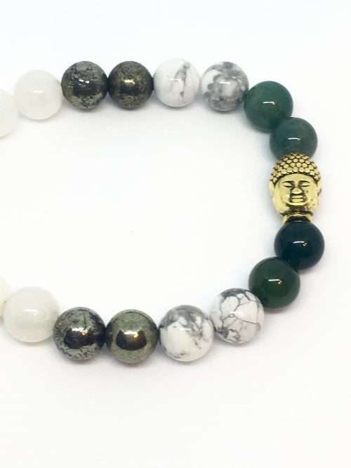Wise Woman, fear not because you are the force that gives life, love, knowledge and wisdom to all whom you come in contact with. Embrace your magic. This Fearless Wisdom Reiki healing Mala bracelet is made with 7.5 mm gemstones and strung on a strong elastic stretch string. Each bracelet is sized to fit most wrists.
