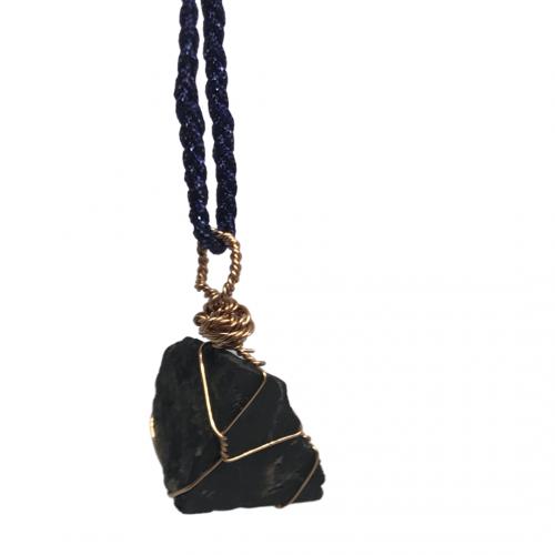 Raw Handmade Shungite EMF Reiki Pendant Necklace